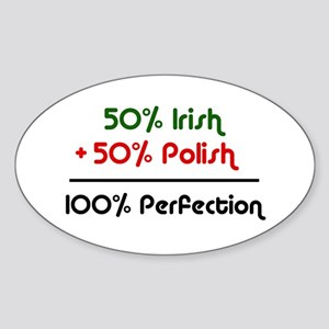 Irish & Polish Oval Sticker