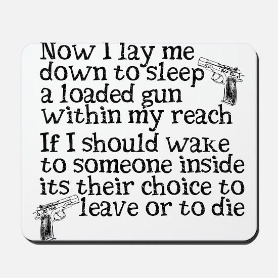 Gun Owner Prayer Mousepad
