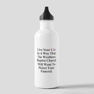 Westboro Baptist Church Stainless Water Bottle 1.0