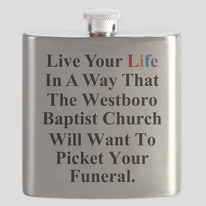 Westboro Baptist Church Flask