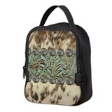 Cow hide Neoprene Lunch Bag
