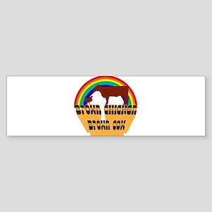 Brown Chicken Brown Cow Joke Bumper Sticker