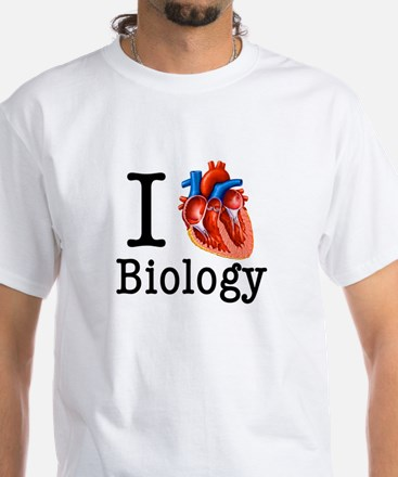 I love Biology White T-Shirt