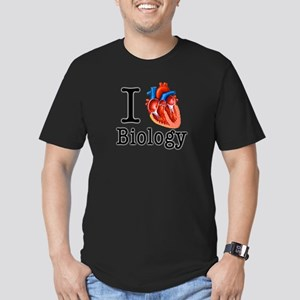 I love Biology Men's Fitted T-Shirt (dark)