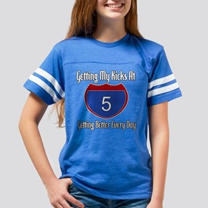 Route 66 5th Birthday Youth Football Shirt