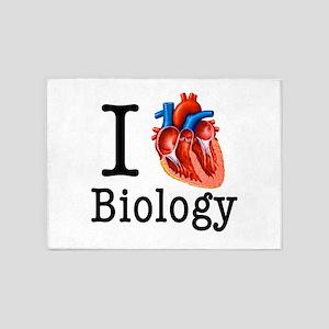 I love Biology 5'x7'Area Rug