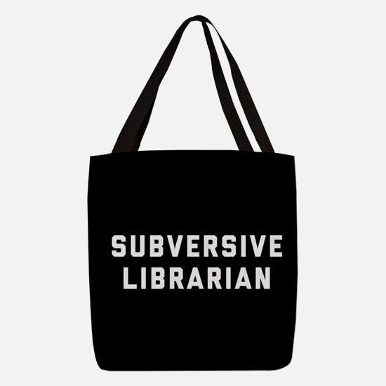 Subversive Librarian Polyester Tote Bag