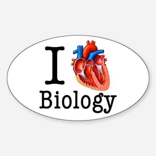 I love Biology Sticker (Oval)