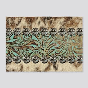 cow hide western leather 5'x7'Area Rug