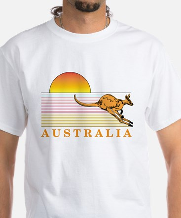 Aussie Sunset White T-Shirt