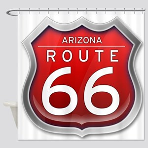 Arizona Route 66 - Red Shower Curtain