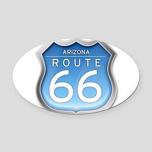 Arizona Route 66 - Blue Oval Car Magnet