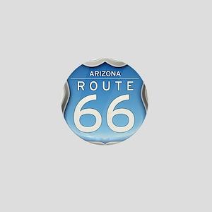 Arizona Route 66 - Blue Mini Button