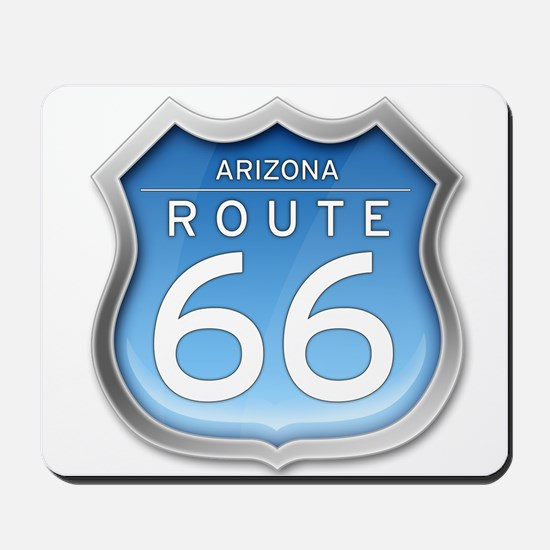 Arizona Route 66 - Blue Mousepad