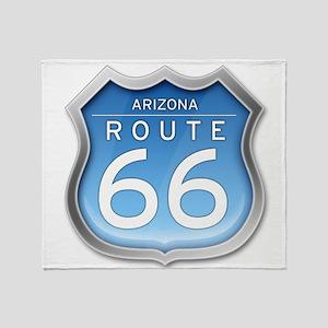 Arizona Route 66 - Blue Throw Blanket