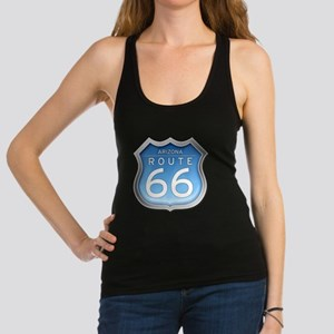 Arizona Route 66 - Blue Racerback Tank Top