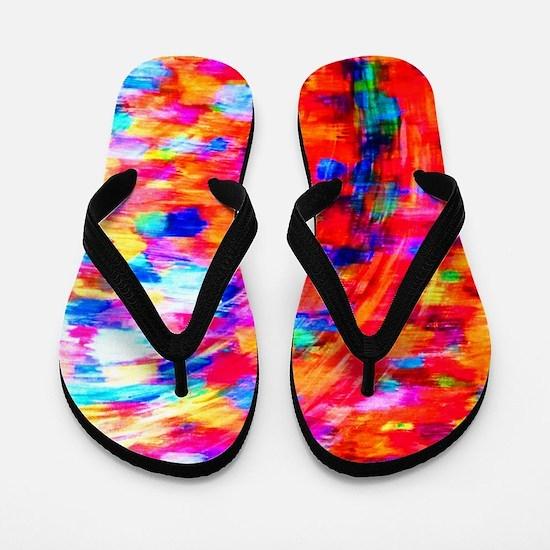 Rainbow Kente Flip Flops