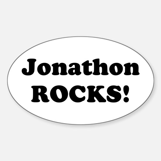 Jonathon Rocks! Oval Decal