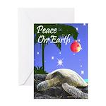 SEA TURTLE PALM CHRISTMAS Greeting Card