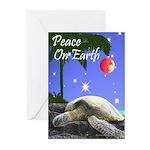 SEA TURTLE PALM CHRISTMAS Greeting Cards (Pk of 20
