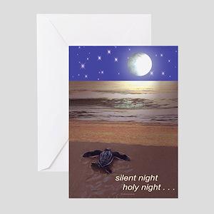 SILENT NIGHT SEA TURTLE CHRISTMAS Greeting Cards (