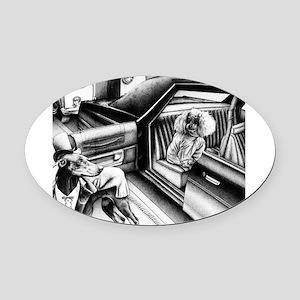 Premier Night Oval Car Magnet