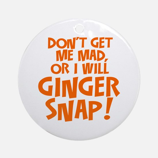Ginger Snap Ornament (Round)