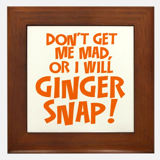 Ginger Snap Framed Tile