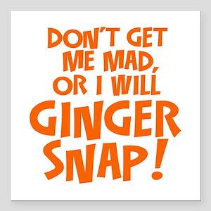 "Ginger Snap Square Car Magnet 3"" x 3"""