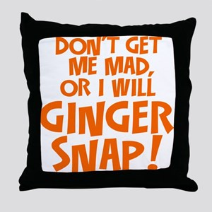 Ginger Snap Throw Pillow