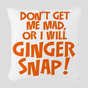 Ginger Snap Woven Throw Pillow