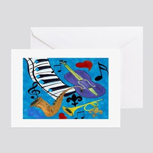 Jazz Art Greeting Cards