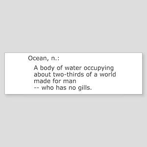 Ocean Bumper Sticker