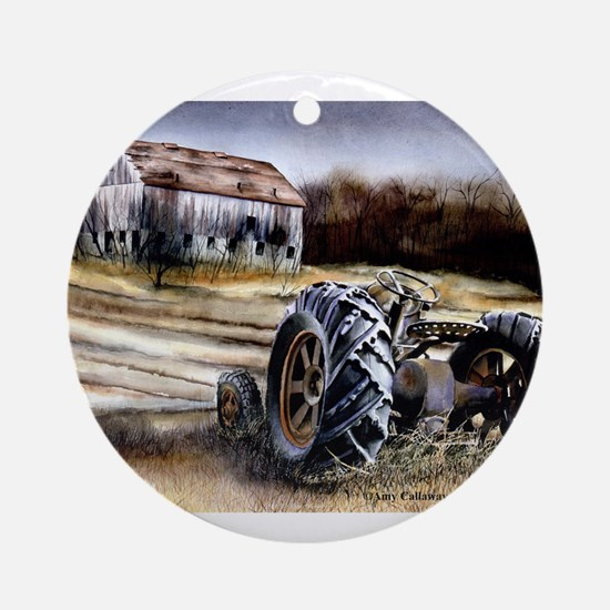 Old Tractor Ornament (Round)