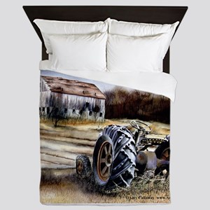 Old Tractor Queen Duvet