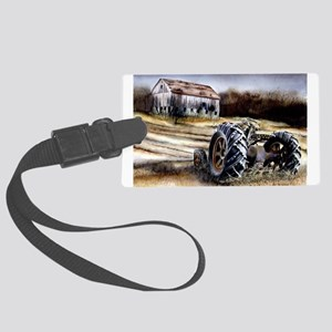 Old Tractor Large Luggage Tag