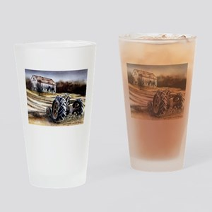 Old Tractor Drinking Glass