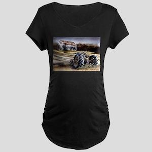 Old Tractor Maternity Dark T-Shirt