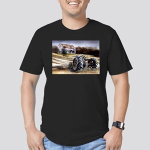 Old Tractor Men's Fitted T-Shirt (dark)