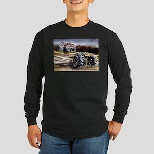 Old Tractor Long Sleeve Dark T-Shirt