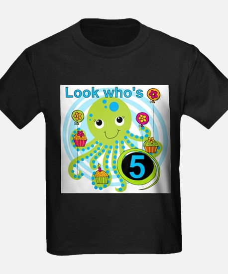 Octopus 5th Birthday T-Shirt