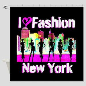 NYC FASHION Shower Curtain