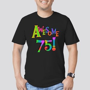 Awesome 75 Birthday Men's Fitted T-Shirt (dark)