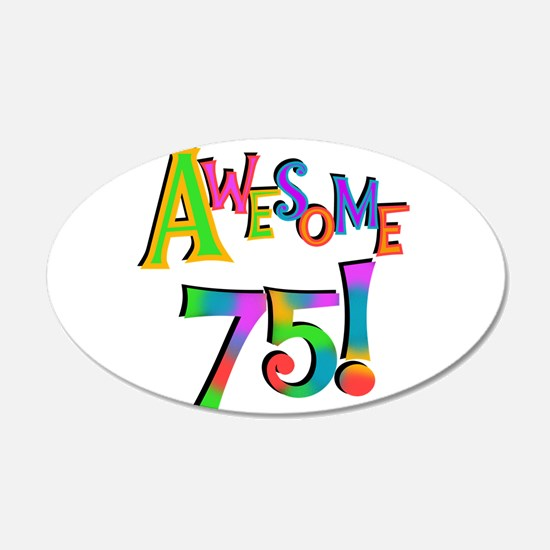 Awesome 75 Birthday Wall Decal