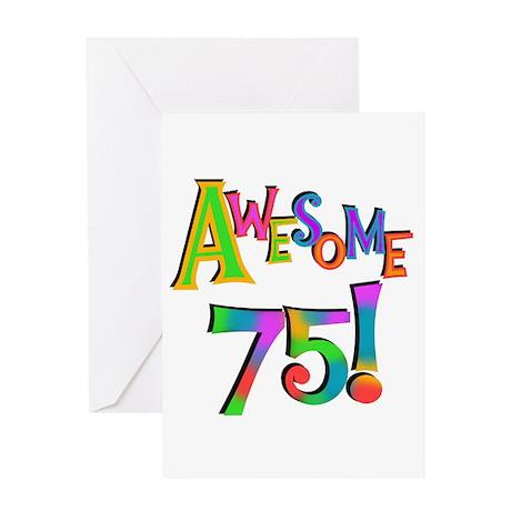 75th Birthday Greeting Cards CafePress