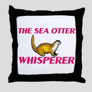 The Sea Otter Whisperer Throw Pillow