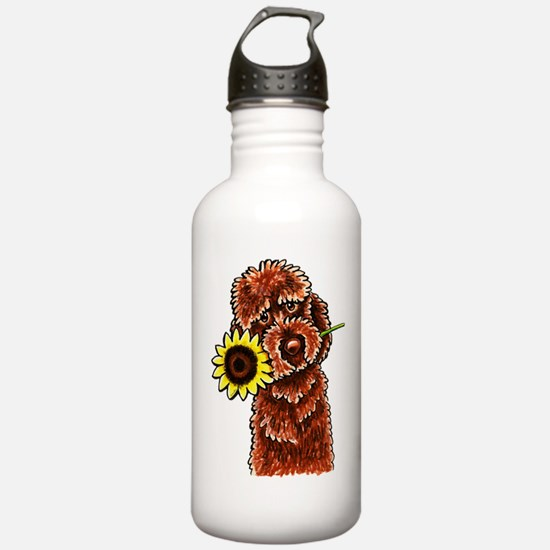 Sunny Chocolate Labrodoodle Water Bottle