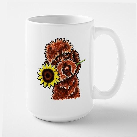 Sunny Chocolate Labrodoodle Mugs