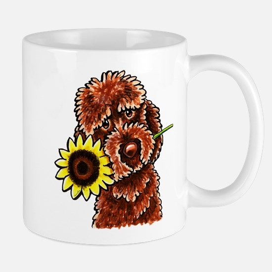 Sunny Chocolate Labrodoodle Mugs