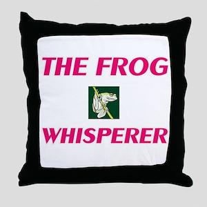 The Frog Whisperer Throw Pillow